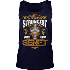 SENFT shirt. God made the strongest and named them SENFT - SENFT Shirt, SENFT Hoodie, SENFT family, SENFT Year, SENFT Name, SENFT Birthday, SENFT tee #gift #ideas #Popular #Everything #Videos #Shop #Animals #pets #Architecture #Art #Cars #motorcycles #Celebrities #DIY #crafts #Design #Education #Entertainment #Food #drink #Gardening #Geek #Hair #beauty #Health #fitness #History #Holidays #events #Home decor #Humor #Illustrations #posters #Kids #parenting #Men #Outdoors #Photography #Products…