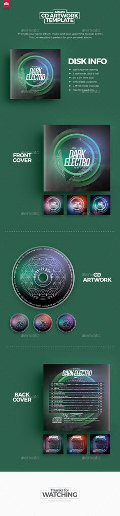 Dark Electro  Cd Artwork — Photoshop PSD #concert #print template • Download ➝ https://graphicriver.net/item/dark-electro-cd-artwork/19497996?ref=pxcr