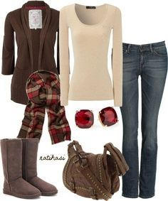 """""""Christmas Winter Outfit"""" by natihasi on Polyvore – Click image to find more Women's Fashion Pinterest pins"""