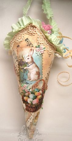 DIY::  Easter Cone to  hold Spring surprises