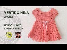 Vestido para niña - Lanas y Ovillos y Tejiendo con Laura Cepeda - Segunda Parte - YouTube