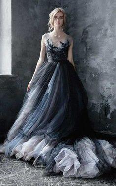 23 Romantic and Stylish Black Wedding Dresses!