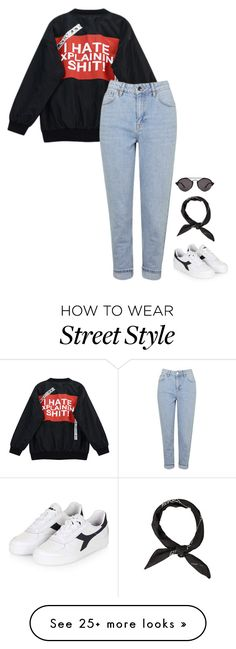 """""""Untitled #658"""" by streetyouth on Polyvore featuring Chicnova Fashion, Topshop, Diadora and Illesteva"""