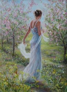 Art: Mist of Dreams, by Karen Wallis, British Figurative painter Romantic Paintings, Beauty In Art, Mystique, Painted Ladies, Wallis, Woman Painting, Beautiful Paintings, Art Blog, Oeuvre D'art