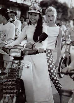 'Good Morning, Vietnam': Kate Moss by Bruce Weber for US Vogue, June 1996 (5)