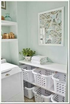Great laundry room idea