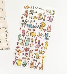Cute Animals Stickers // Erin Condren Planner Stickers // Scrapbooking embellishment // DIY essentials