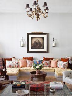 New York City Loft - eclectic - living room - new york - Deborah French Designs
