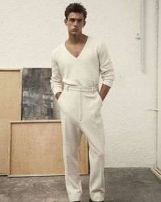 On the heels of a cheeky fashion shoot for GQ Style Korea, model Xavier Serrano returns to the pages of Hercules Universal. Fashion Shoot, Look Fashion, Mens Fashion, Fashion Outfits, Fashion Design, Fashion Trends, Fashion Check, Fashion Models, Look Street Style