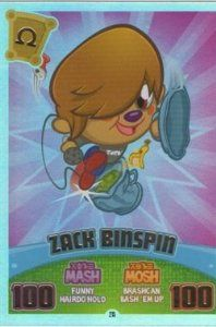 Moshi Monsters Series 3 Code Breakers No. 215 ZACK BINSPIN - Rainbow Foil Individual Trading Card #zackbinspin