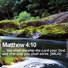 Matthew 4:10 ... You shall worship the Lord your God, and Him only you shall serve. (NKJV) #Salvation #Lamb #Alpha #TheWay #GodIsGood http://www.bible-sms.com/