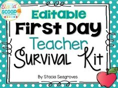 A Teacher Survival Kit is a fun back to school gift that your teachers will love! This pack includes First Day of School Teacher Survival Kit pre-made cards, plus templates of each to make your own! Are you getting ready for testing season? Just added- Testing Survival Kit template!Cards Included:First Day Teacher Survival KitFirst Day New Teacher Survival KitFirst Day Student Teacher Survival KitFirst Day Substitute Teacher Survival KitTesting Survival KitYou will need PowerPoint to add…