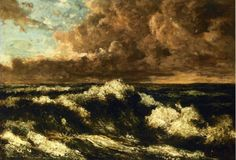 Seascape Metal Print by Courbet Gustave. All metal prints are professionally printed, packaged, and shipped within 3 - 4 business days and delivered ready-to-hang on your wall. Seascape Paintings, Landscape Paintings, Landscapes, Realism Artists, Gustave Courbet, French Paintings, Art Database, French Art, Great Artists
