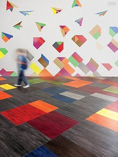 Use Carpet Tiles To Make Funky Designs For A Rug Cheap