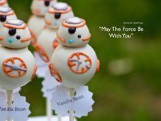 BB8 Star Wars Cake Pops-- Star Wars themed cake pops