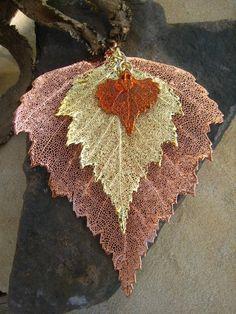 Forest Queen Electroform Leaf Necklace