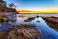 The perfect beach, rocks, blue water, Australian Beaches - Jervis Bay, NSW