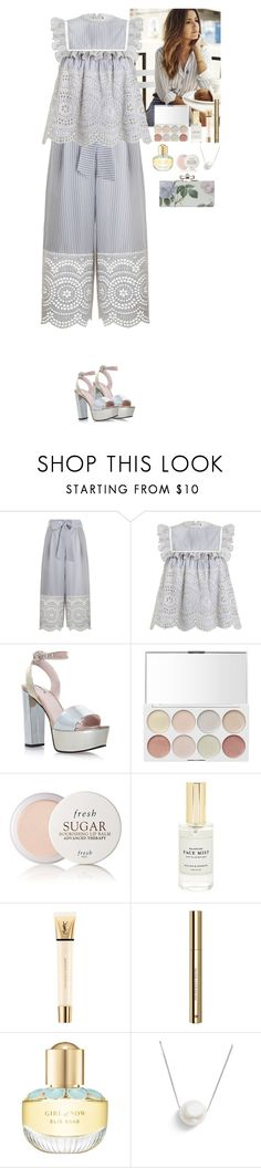 """Outfit"" by eliza-redkina ❤ liked on Polyvore featuring Zimmermann, Carvela Kurt Geiger, Fresh, Mullein & Sparrow, Yves Saint Laurent, H&M, Elie Saab, Chan Luu, Summer and outfit"
