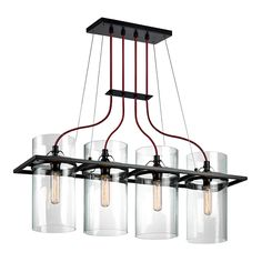 Buy the Sonneman Satin Black Direct. Shop for the Sonneman Satin Black Square Ring 4 Light Pendant with Clear Shade and save. Cool Lighting, Modern Led Lighting, Lights, Sonneman, Light, Contemporary Pendant Lights, Pendant Lighting, Chandelier, Modern Lighting