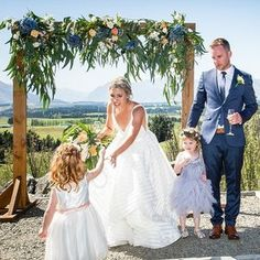 How stunning is that floral archway by Studio 24 Floral Stylist at Criffel Station! Studio 24, Bridal Flowers, Stylists, Floral, Flowers, Flower