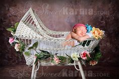 Items similar to Antique Vintage Wicker Baby Bassinet Digital ...