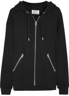 Acne Studios Oversized cotton-jersey hooded top on shopstyle.com