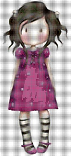 G or juss Cross Stitch Baby, Cross Stitch Charts, Cross Stitch Patterns, Crochet Patterns, Cross Stitching, Cross Stitch Embroidery, Hand Embroidery, Hama Beads, Stitch Doll
