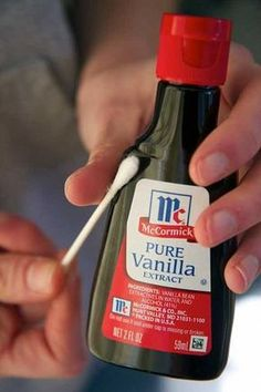 Cold sore remedy-Put some vanilla extract on a q-tip and put on cold sore.