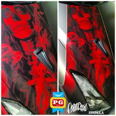 We TOLD YOU that the DEVIL hides behind angel eyes....... Printed RED CHROME w/ matte lam and black reflective pinstripes  Bachelorette #1 dressed to KILL IT DAILY!!! The next three ladies have serious competition w/ this lady fitted in NEW colors from @adgraphics_na Introducing the #GiovannaEdition of #SupremeWrappingFilm Welcome #SatinPearlNero, #SatinPearlCieloBlu & #MatteMetallicGrigio to the #SWF portfolio. But this devil in disguise has a little bit of her personality peaking out her…