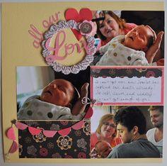 "Random Memories by Julie Leonhardt  left page: ""All our Love"""