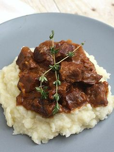 Carbonnade - Belgian Beef, Beer, and Onion Stew from Tracy's Culinary Adventures