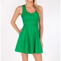 Jessica Simpson Fit-and-Flare Dress with Embroidered Back #VonMaur #JessicaSimpson #Green #FitAndFlare