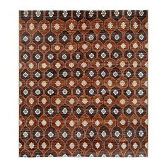 With a distinctive style, a gorgeous area rug from Afghanistan will add some splendor to any decor. This Gabbeh area rug is hand-knotted with a geometric pattern in shades of light brown, chocolate, ivory, and brown.