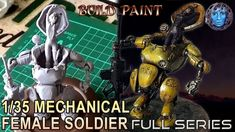 1/35 Mechanical Female Soldier Figure Model | Build & Paint | Full Series Thing 1, Female Soldier, Figure Model, Scale, Building, Crafts, Painting, Weighing Scale, Military Female