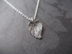 Darling leaf necklace by ther.a.py. $30.00, via Etsy.