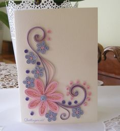 Best 12 Birthday Card – Mother's Day Card – Quilling Card – Wedding Card – SkillOfKing. Paper Quilling Cards, Paper Quilling Flowers, Quilling Work, Paper Quilling Patterns, Origami And Quilling, Quilled Paper Art, Paper Flowers Craft, Quilling Paper Craft, Paper Crafts