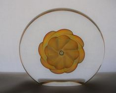 FASCINATING Opalescent SIGNED Glass PAPERWEIGHT Colors Change MAGICALLY 5.25 in #PleaseSeeLastPhoto