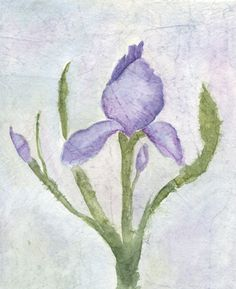 crinkled iris painting