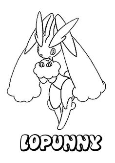 Lopunny Pokemon Coloring Page Do You Like NORMAL POKEMON Pages Can Print Out This Pagev Or Color It Online With