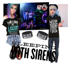 """""""Sleeping With Sirens concert with Shyler ( Shannon Taylor + Tyler Hagen ) Heythereimshannon sounds like harmony"""" by mcintirev ❤ liked on Polyvore featuring beauty and Dsquared2"""