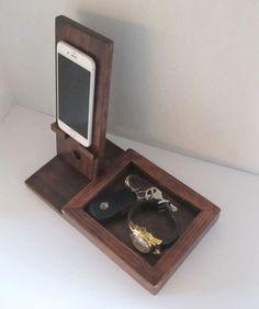 IPhone Dock con bandeja Valet por ImproveResults en Etsy