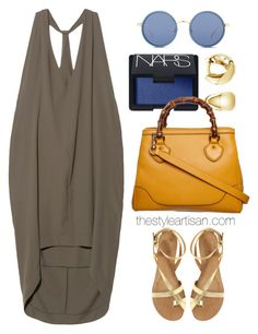 """VPL Exertion Dress"" by thestyleartisan ❤ liked on Polyvore featuring VPL, Ash, BERRICLE, NARS Cosmetics, Gucci, Linda Farrow, tote and gucci"