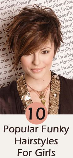 Girls Funky Hairstyles: Here are our top 10 choices for funky hairstyles for girls.