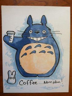Totoro and coffee marker sketch by khallion on Etsy hehe Coffee ;) @Michelle Shaeffer @Melissa Barham @Kelly Gobats-Losavio