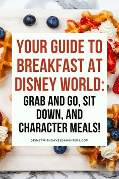 Are you wondering where to eat breakfast in Walt Disney World? Here are the best places to get quick service grab and go breakfast, Starbucks coffee, sit down dining, and character breakfast buffets!