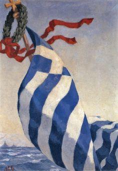 (1877 Καλαμάτα - 1949 Σκόπελος) Σπούδασε στη Σχολή Καλών Τεχνών με δασκάλους τον Κωνσταντίνο Βολανάκη και τον Νικηφόρο Λύτρα. Το 1906 πήγε στη Γερμανία και ολοκλήρωσε τις σπουδές του στην Ακαδημία ... Modern Art, Contemporary Art, Greece Painting, Mediterranean Art, Greek Beauty, Painter Artist, Greek Art, 10 Picture, Color Of Life