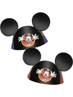 737c0d7296c Mickey Mouse Party Hats (8 Pack) Mickey Mouse Party Favors
