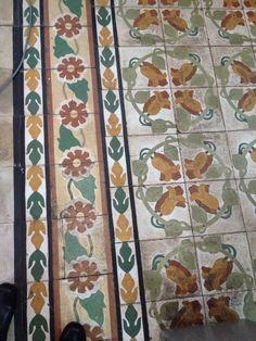 Church nha tho tan dinh Vietnam I love antique flooring