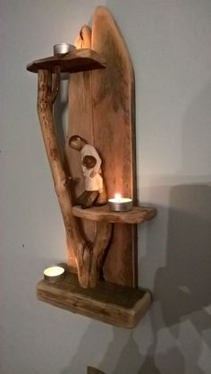 📣 99 Fantastic Models Of Wooden Pallet Shelves For Your Woodworking Project Inspiration Wooden Pallet Shelves, Wood Wall Shelf, Rustic Shelves, Rustic Walls, Wooden Pallets, Wood Shelves, Driftwood Projects, Driftwood Art, Diy Pallet Projects
