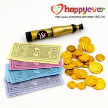 47PCS Pirate Theme Party Favors Pack Play Money Theme Party Prop Plastic Gold Coins Game paper Costume Money Telescope //Price: $US $3.99 & FREE Shipping //     #festive #party #birthdayparty #christmas #wedding decoration #event